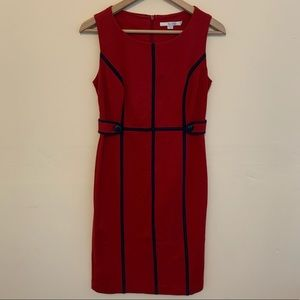 BODEN Red Pin Up Pencil Dress